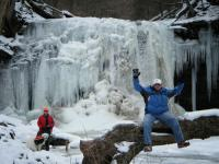 06-Jan-10 Ricketts Glen State Park 21 - Josh Joe and Jackson.jpg